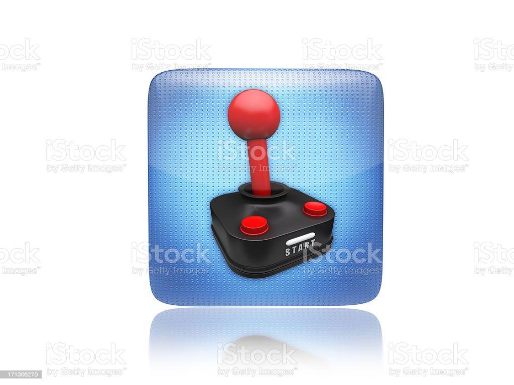 Game or gaming joystick icon royalty-free stock photo