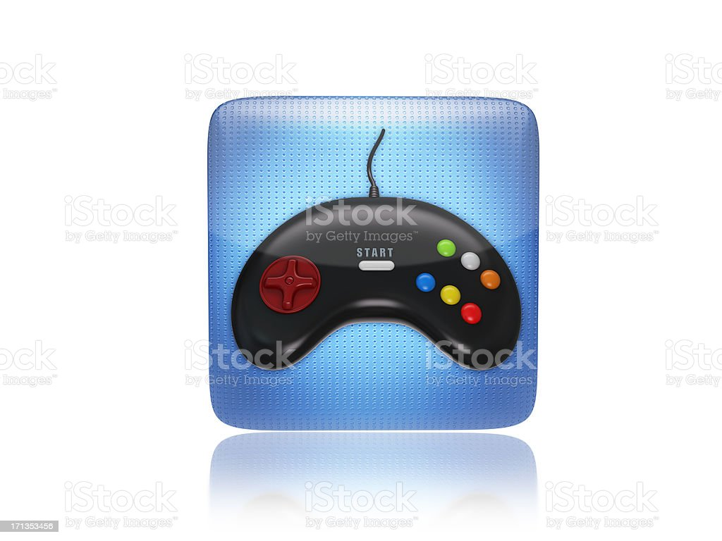 Game or gaming joystick icon stock photo