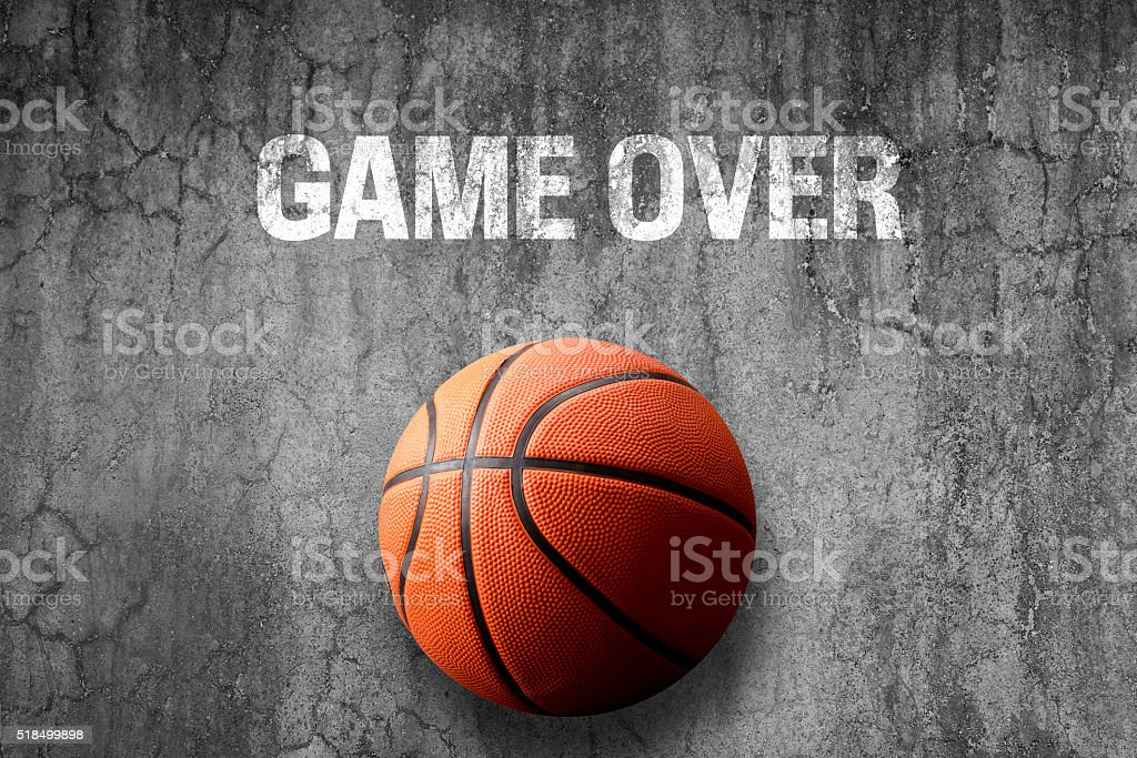 Game over concept with basketball stock photo