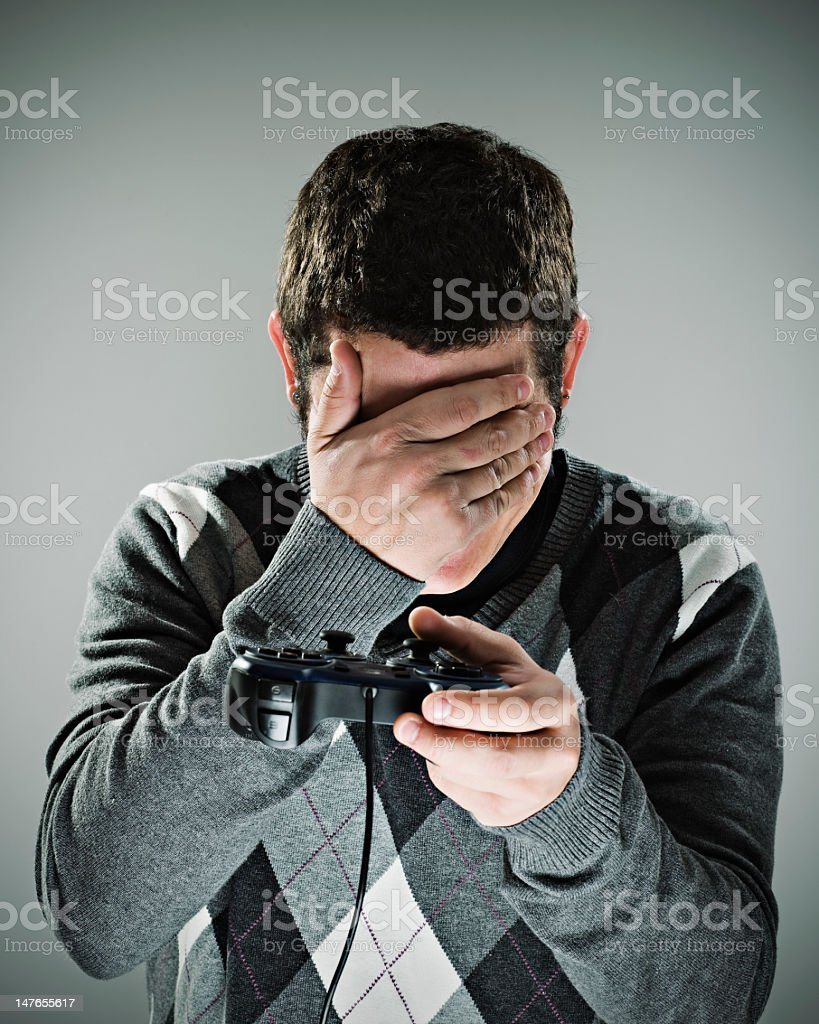 Game over! stock photo