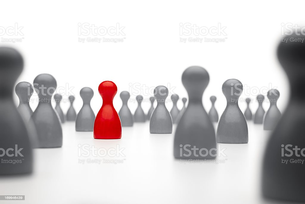 Game pawn concept royalty-free stock photo