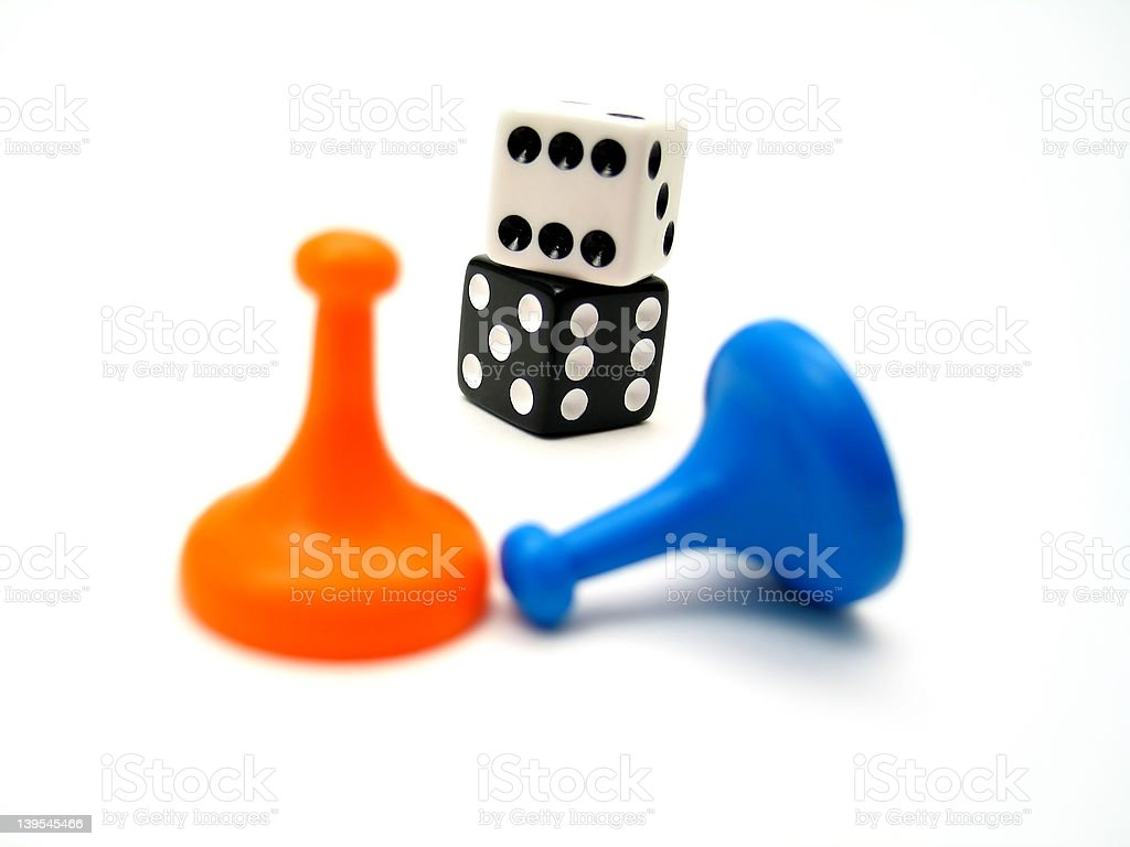 Game Pieces 2 royalty-free stock photo