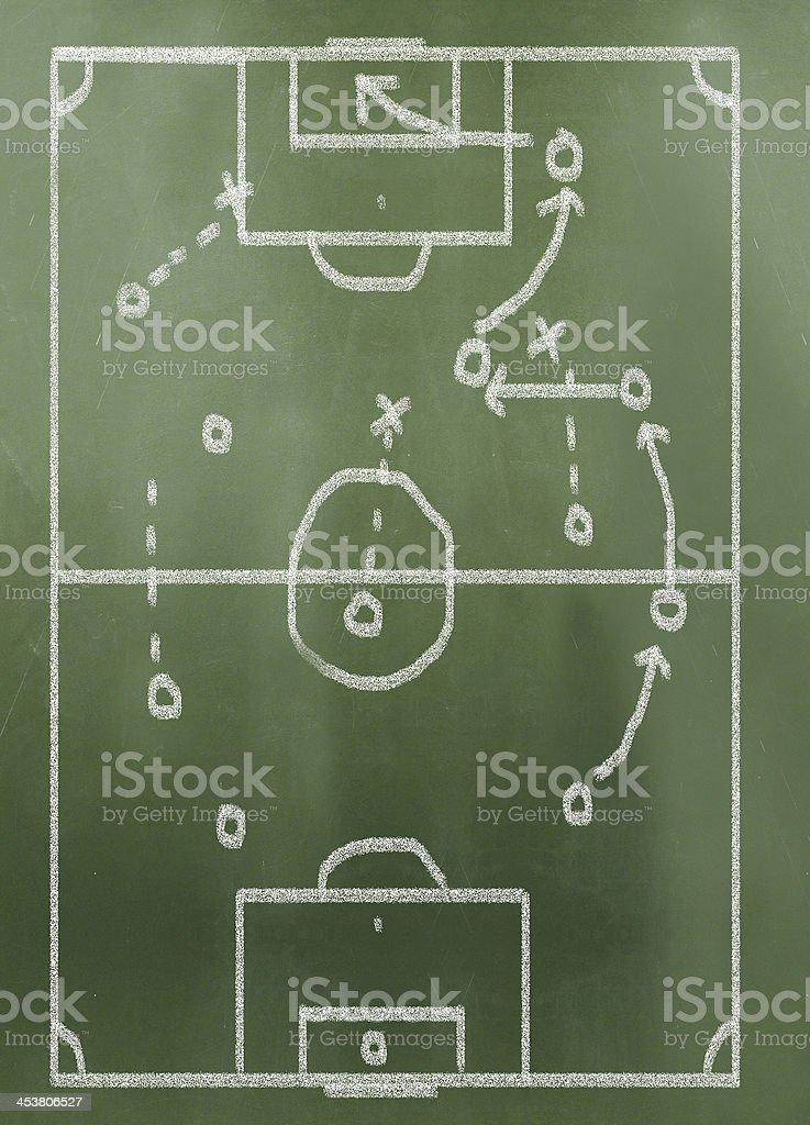 game plan on greenboard stock photo