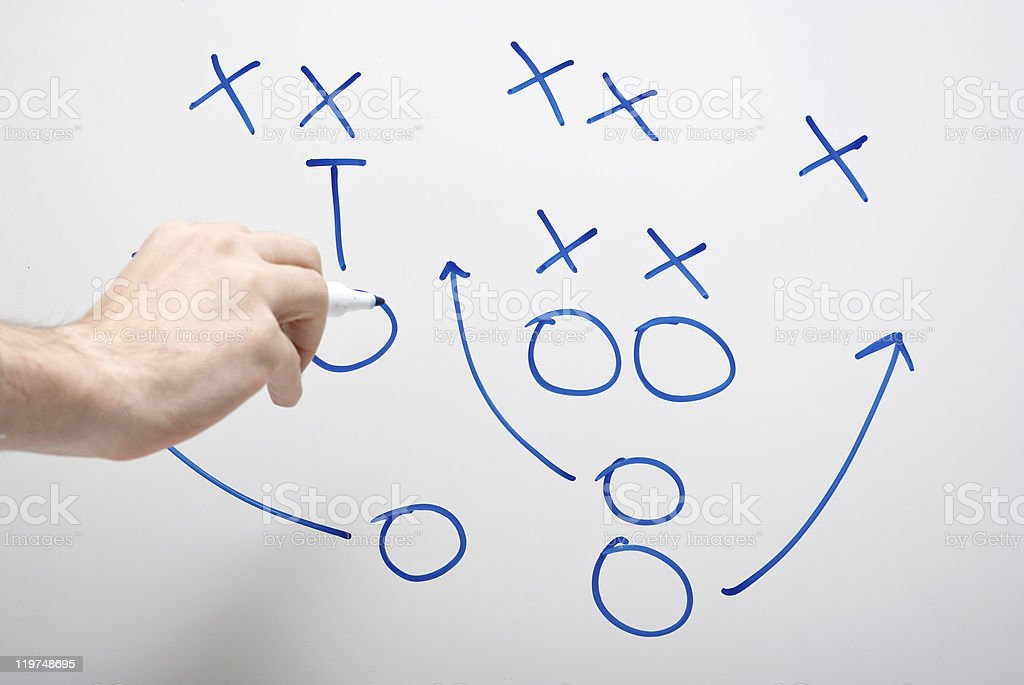 game plan with hand stock photo