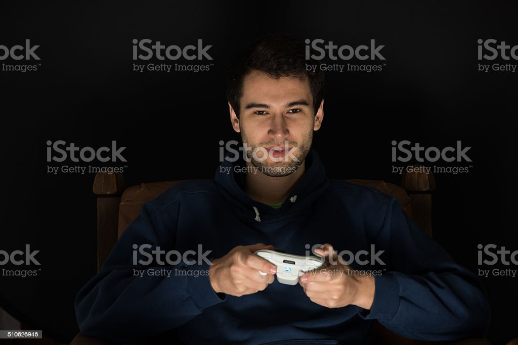 game player stock photo