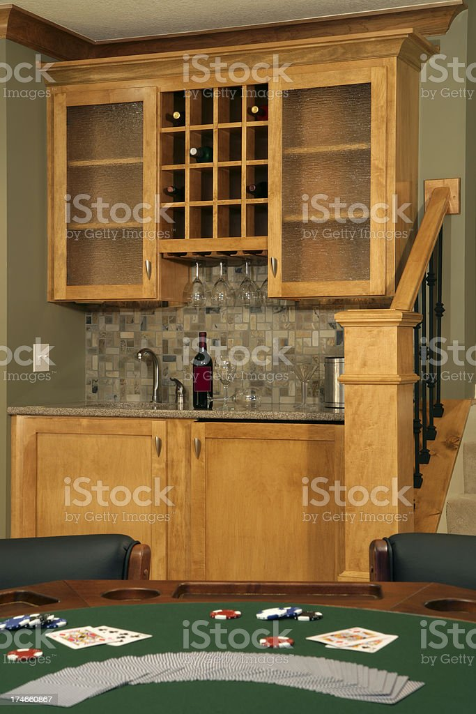 Game room and bar. royalty-free stock photo