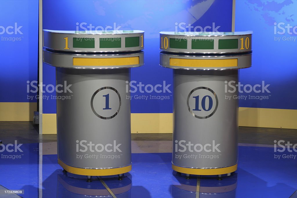Game show stock photo