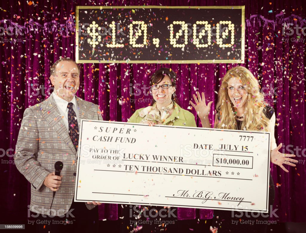 Game Show Winner stock photo