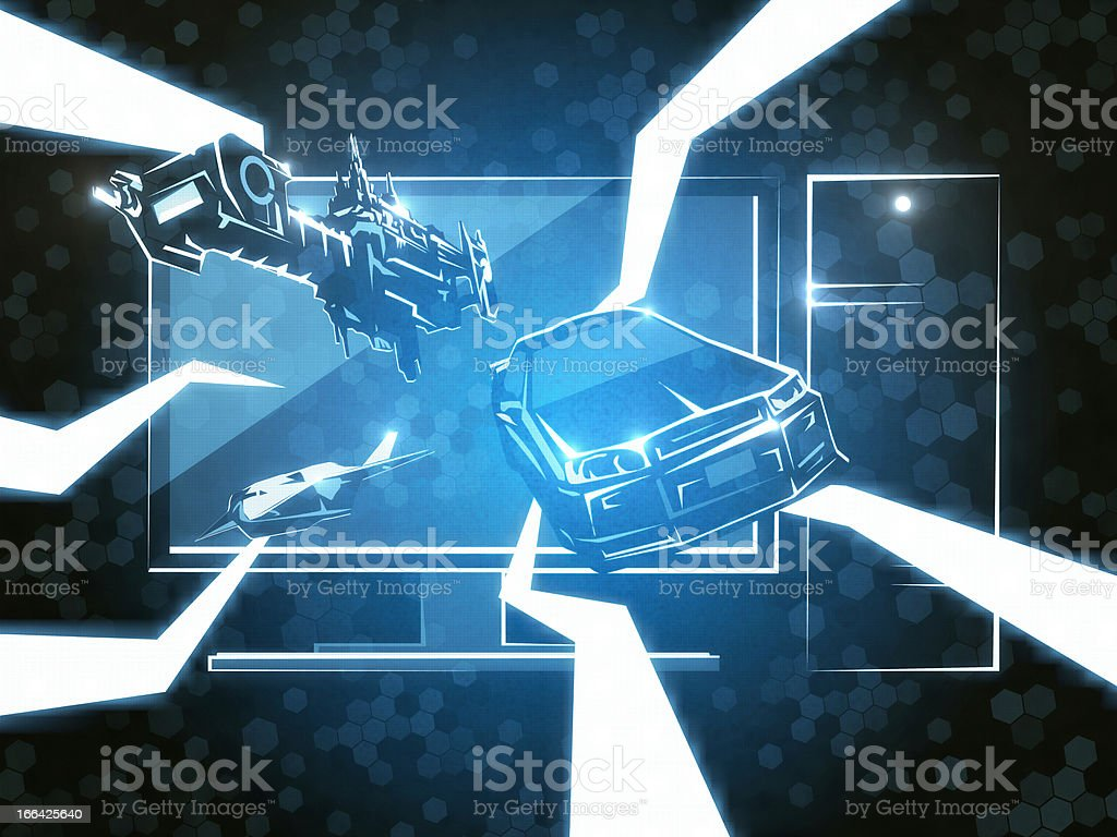 Game Simulator royalty-free stock photo