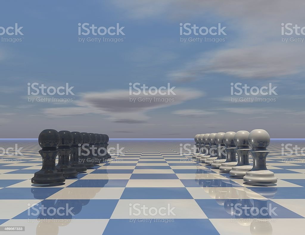 game strategy concept with chess pieces set stock photo