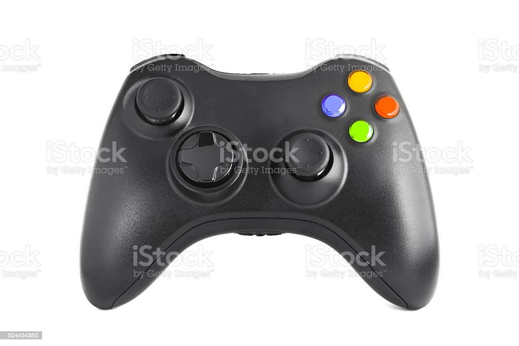 Gamepad from the game console isolated on a white background stock photo