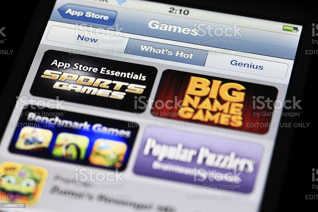 Games at App Store royalty-free stock photo