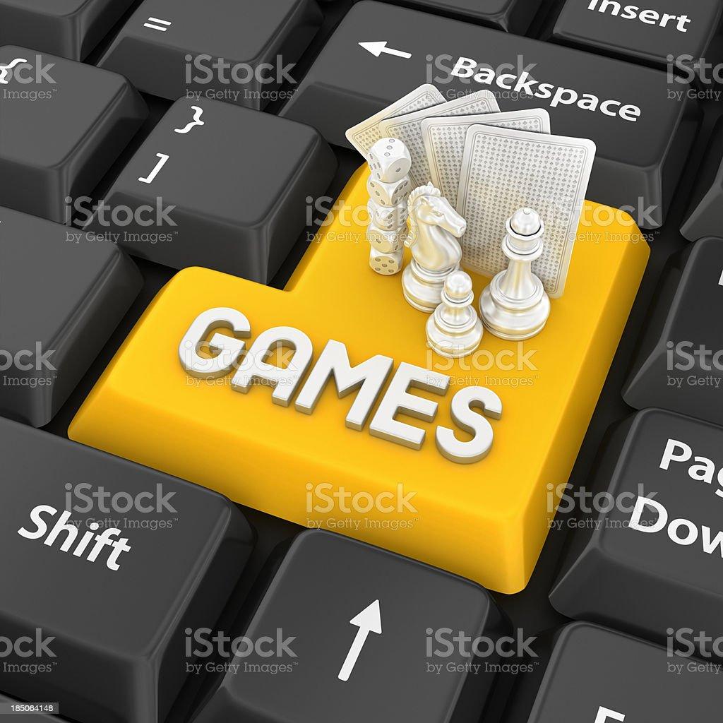 games enter key stock photo