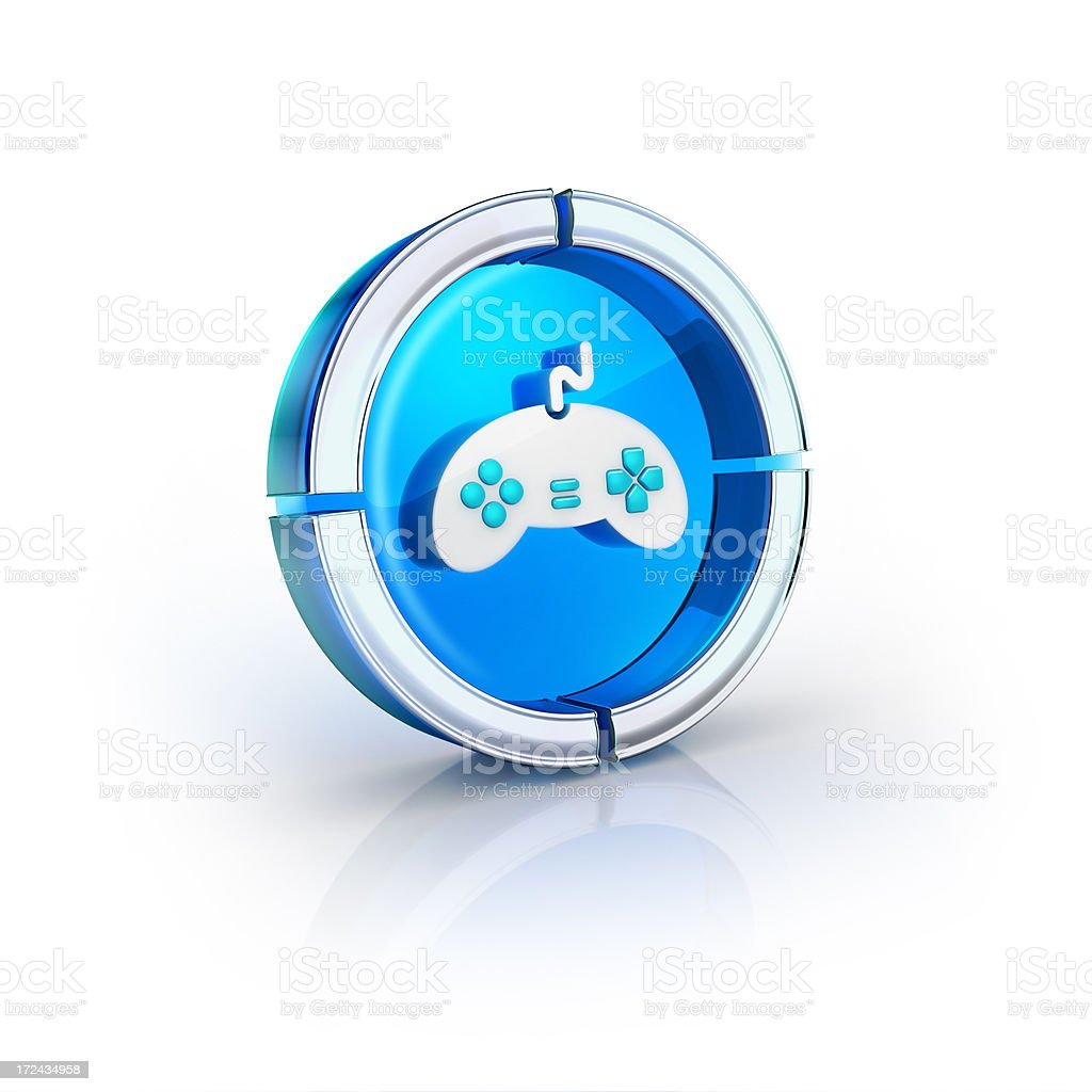 games joystick glossy icon royalty-free stock photo