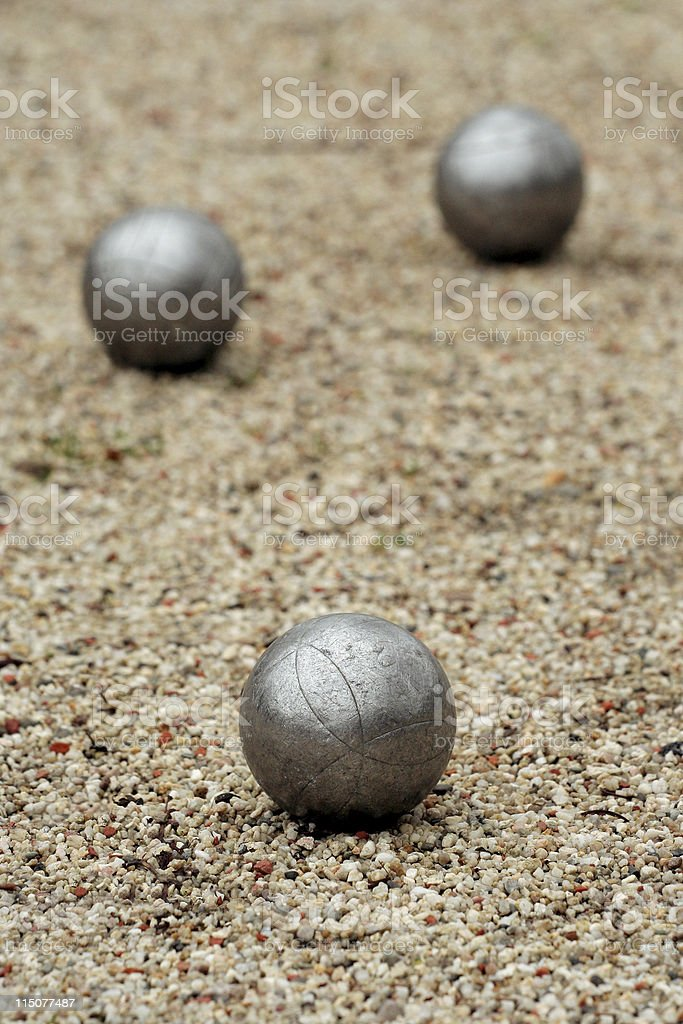 Jeux de boules or petanque stock photo