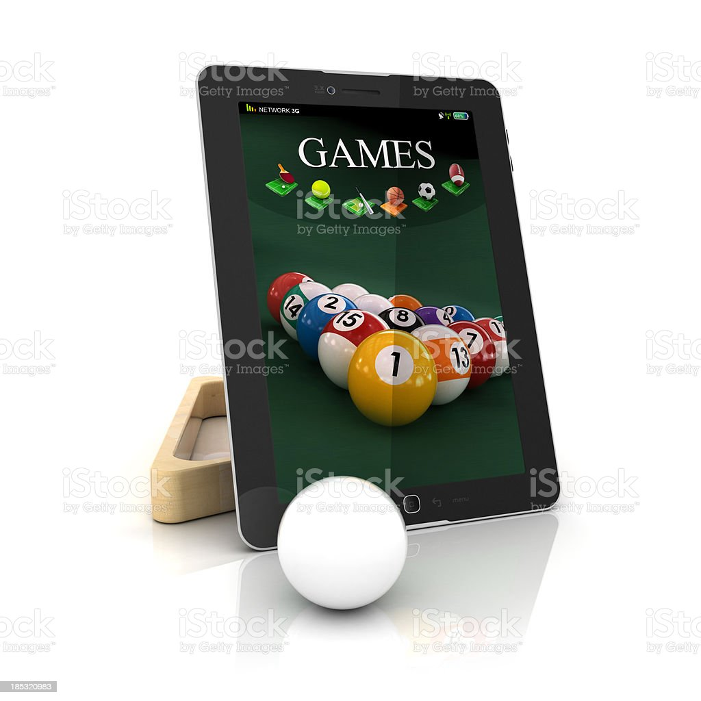 games on tablet and phone stock photo