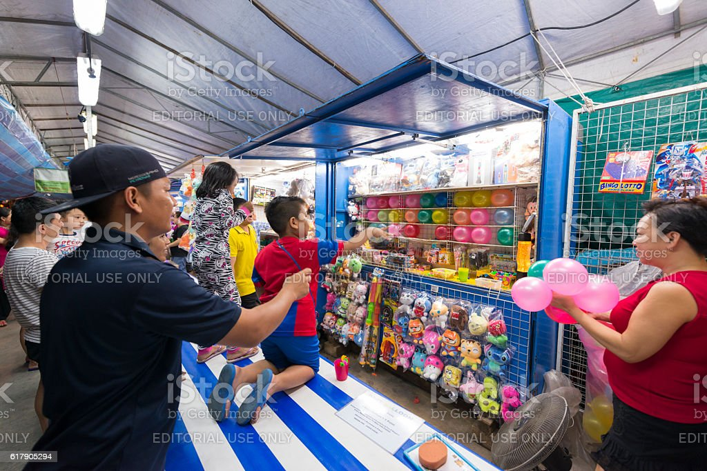 Games Stalls at Pasar Malam, Singapore stock photo
