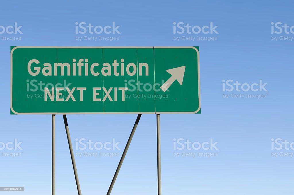 Gamification - Next Exit Road stock photo