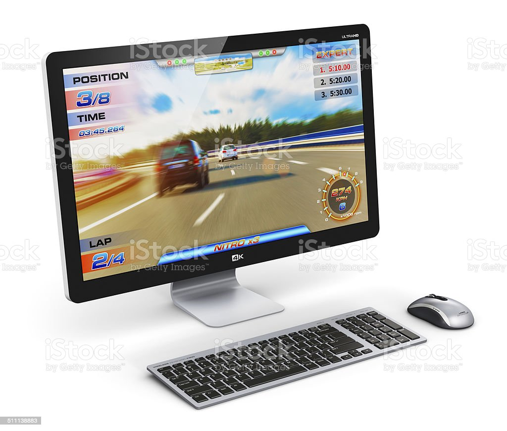 Gaming desktop computer stock photo