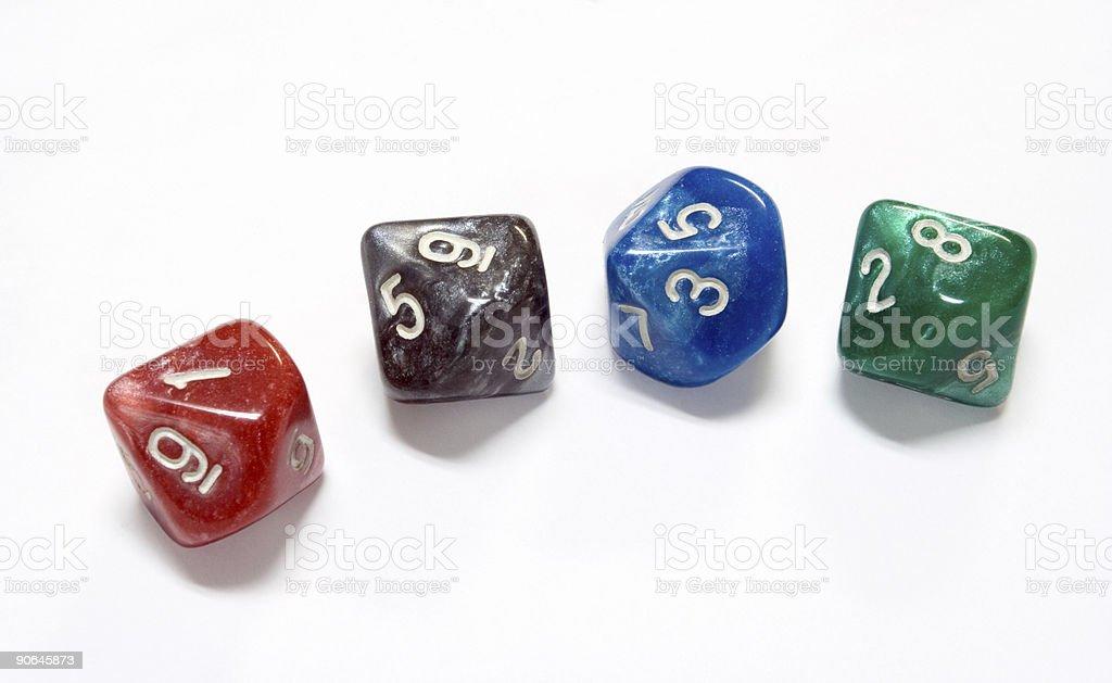 Gaming Dice stock photo