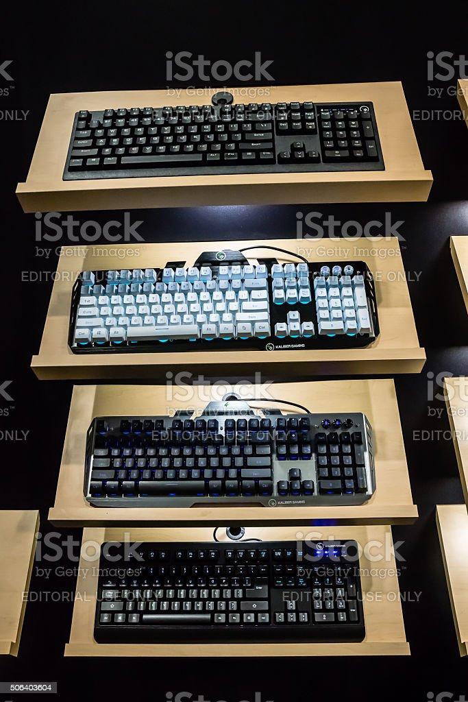 Gaming Keyboards stock photo