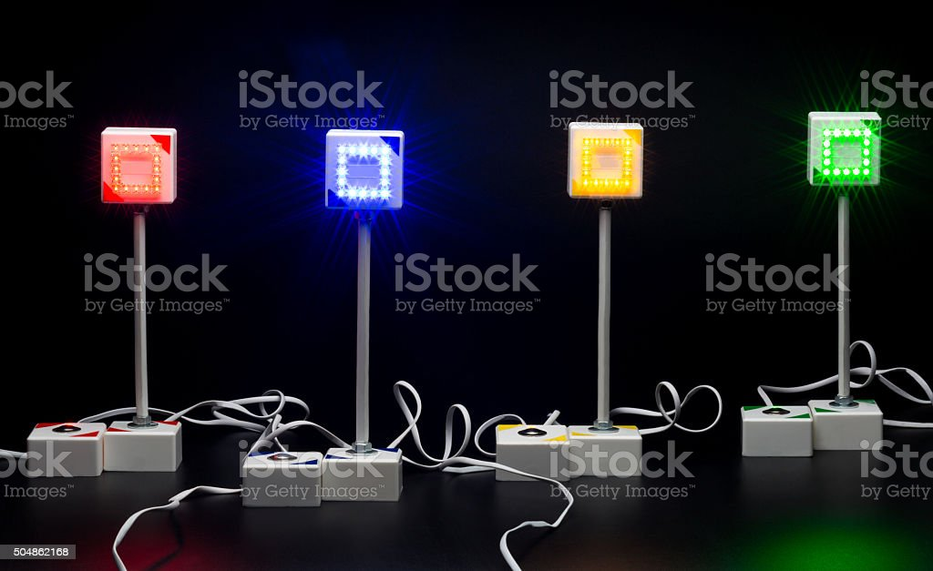 gaming system of quiz stock photo