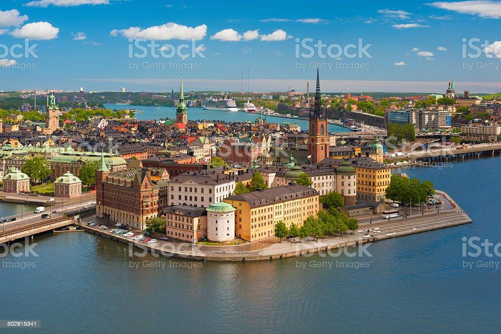 Gamla stan in Stockholm stock photo