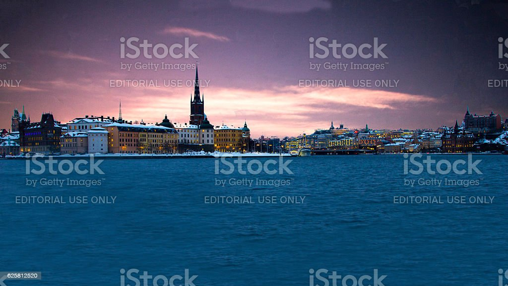 Gamla stan is the old town of Stockholm, Sweden. stock photo