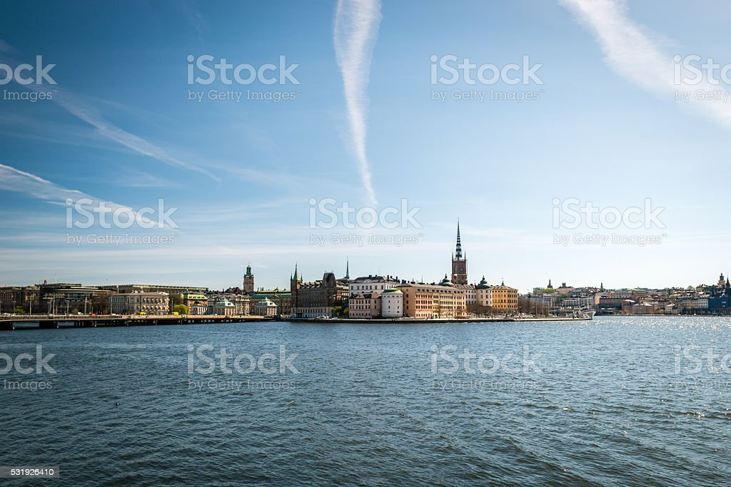 Gamla Stan, the old part of Stockholm, Sweden stock photo