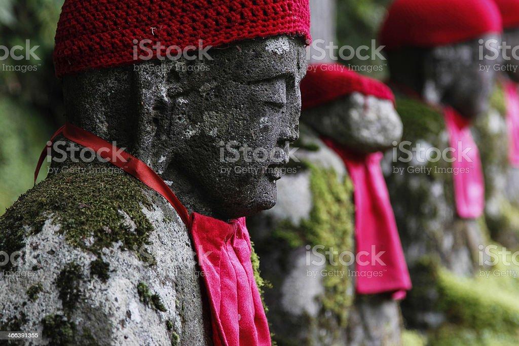 Gamman-Ga-Fuchi buddhas stock photo