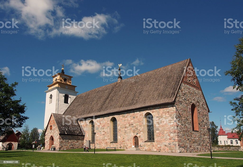 Gammelstad church stock photo