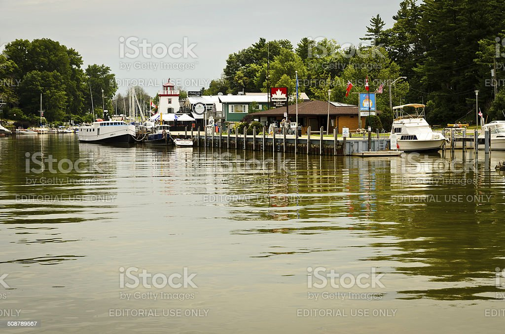 Gand Bend Harbour, Grand Bend, Ontario, Canada royalty-free stock photo