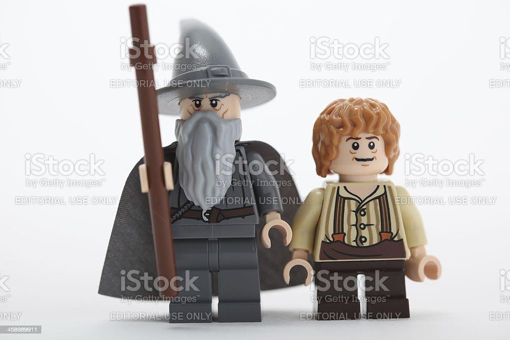 Gandalf and Bilbo stock photo