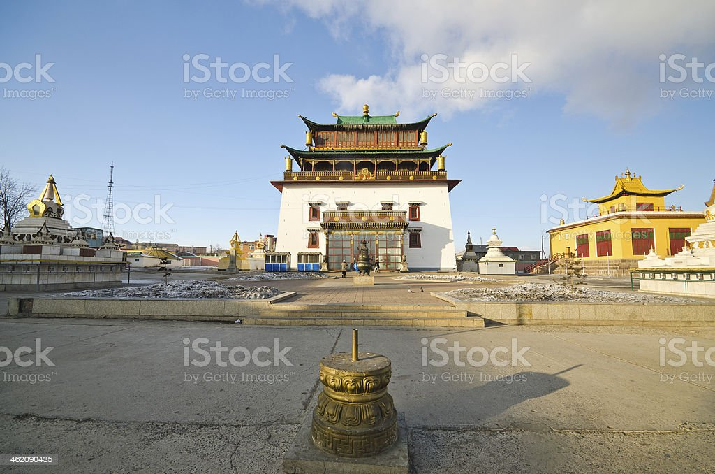 Gandan Monastery stock photo