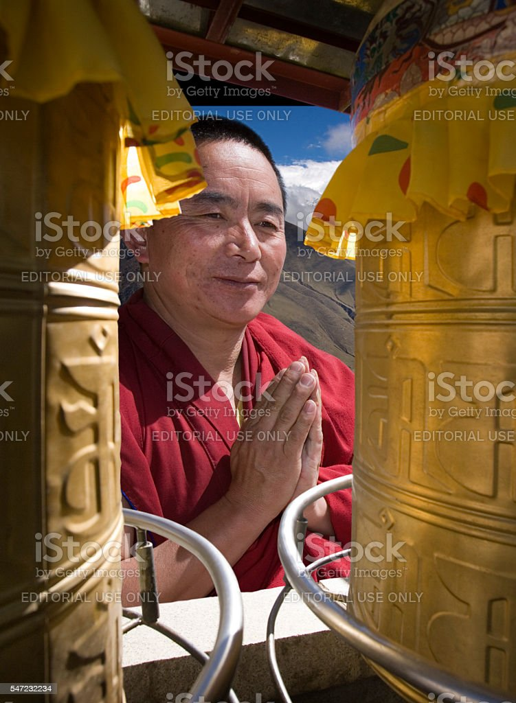 Ganden Monastery - Tibet Autonomous Region of China stock photo