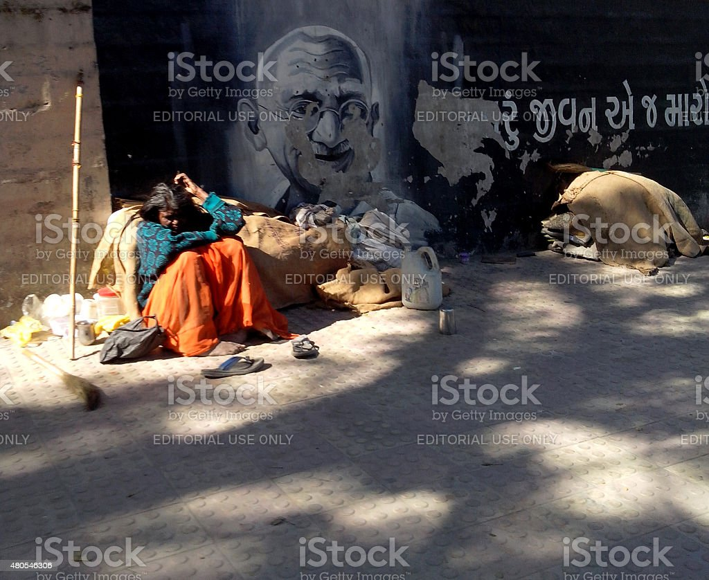 Gandhi's India stock photo