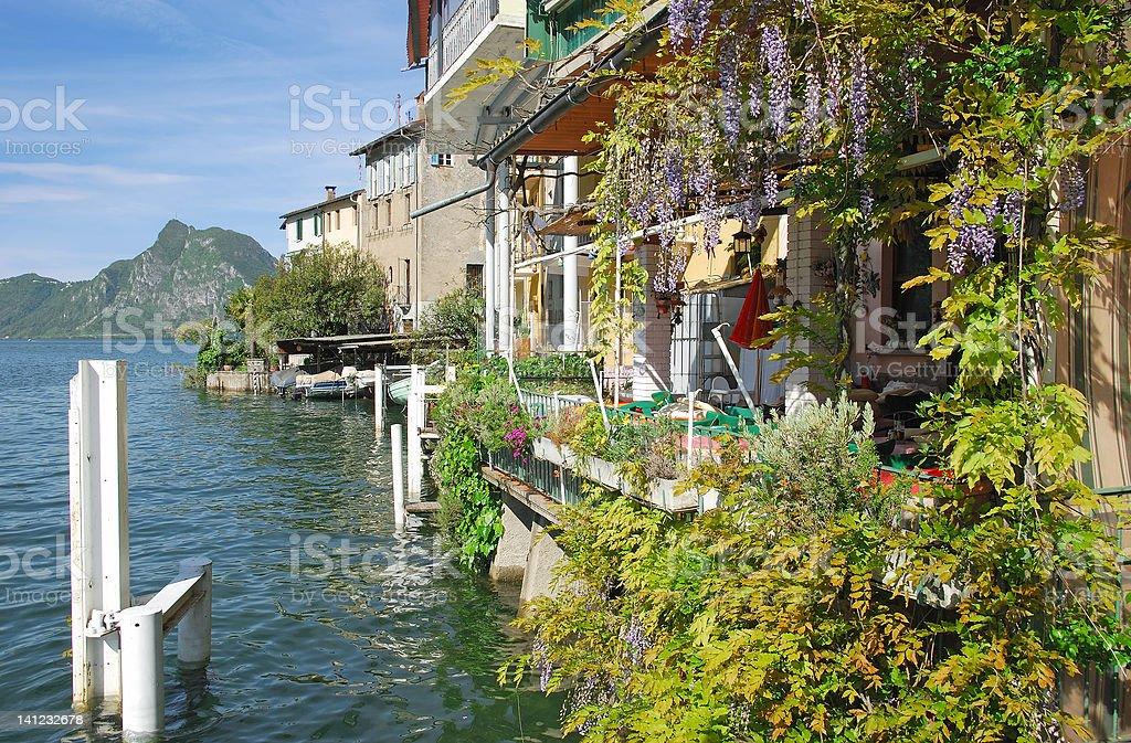 Gandria,Lake Lugano,Switzerland royalty-free stock photo