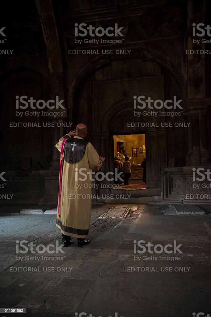 Gandzasar Monastery in Nagorno-Karabakh stock photo