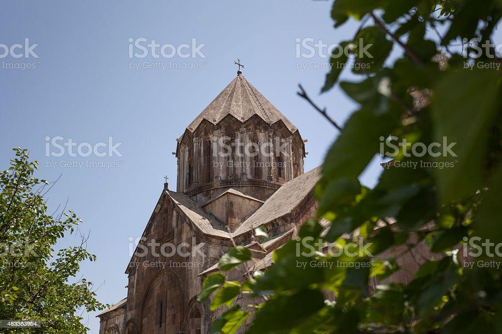 Vank, Nagorno Karabakh - July 17, 2015: Gandzasar Monastery stock photo