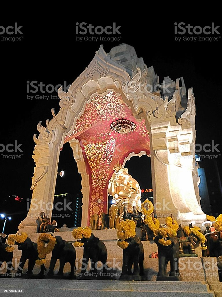 Ganesh at central world in Thailand stock photo