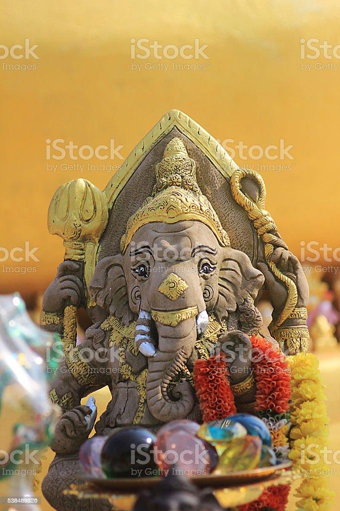 ganesh hindu god statue in bali thailand stock photo