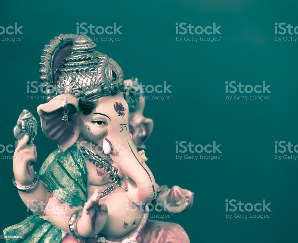 Ganesh (Ganapati- Elephant God) in Hindusim mythology closeup ho stock photo