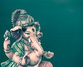 Ganesh (Ganapati- Elephant God) in Hindusim mythology closeup ho