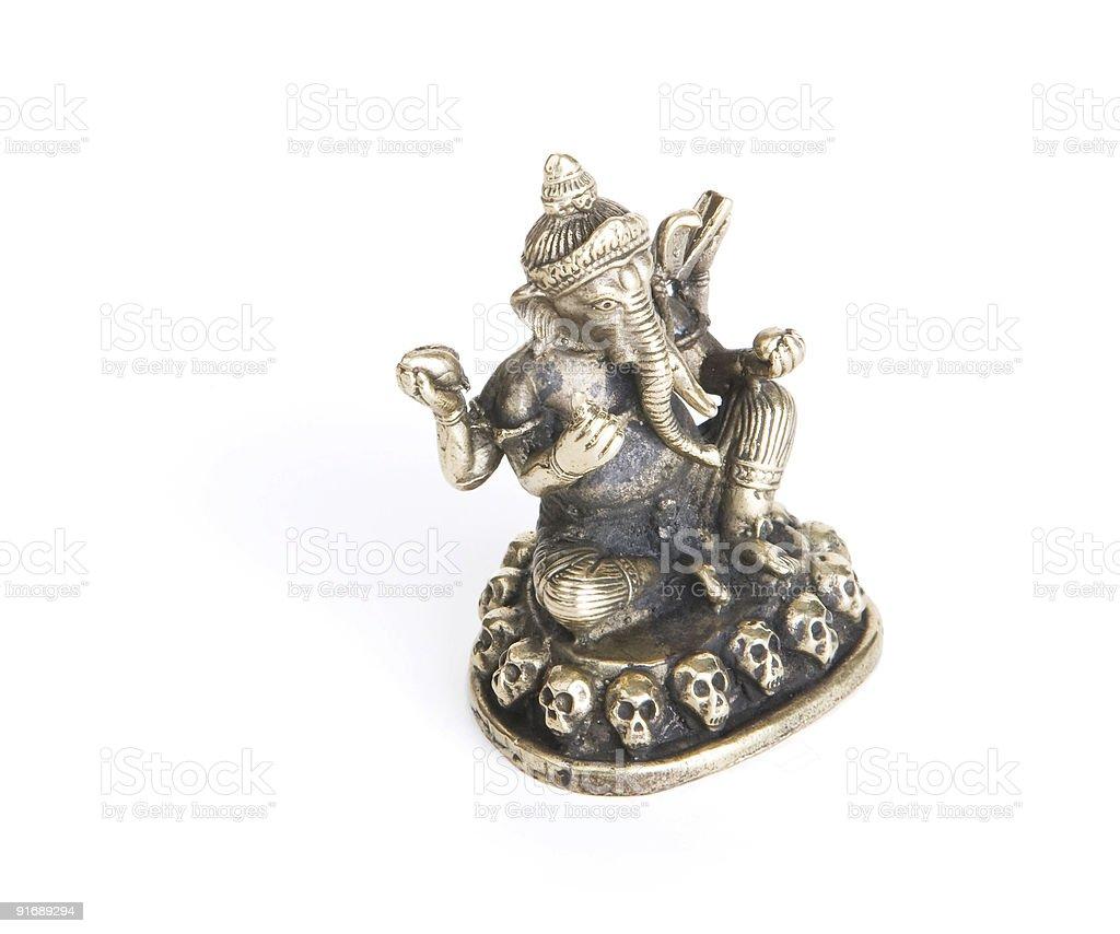 Ganesh on a White Background royalty-free stock photo