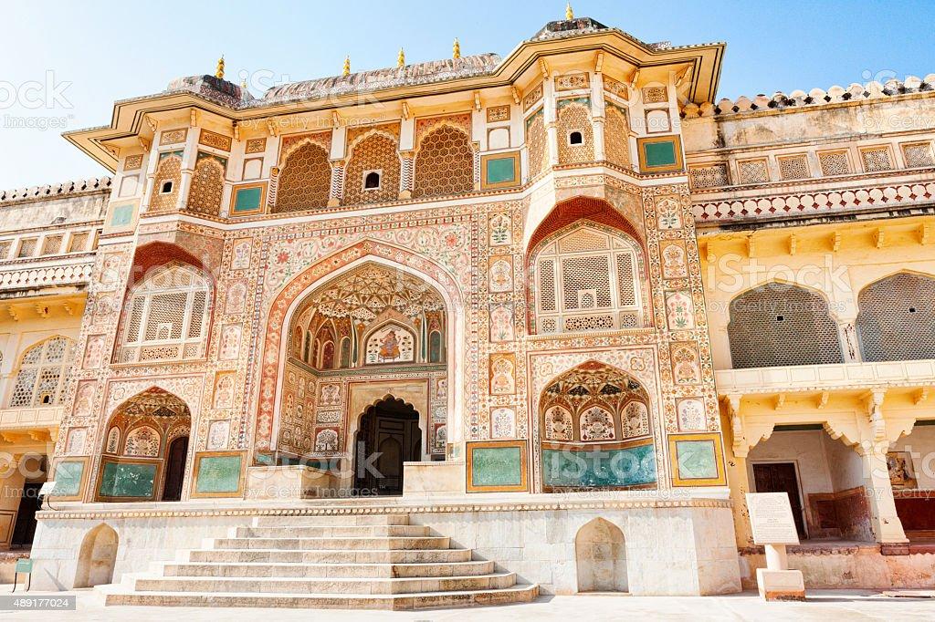 Ganesh Pol at Amer Palace - Amer, India stock photo
