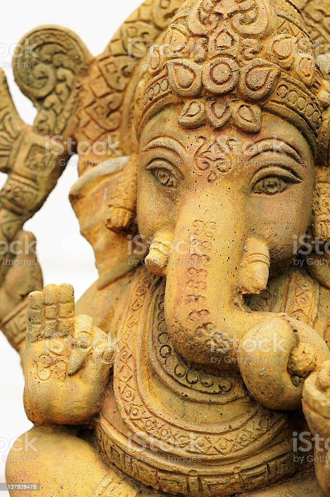 Ganesh sculpture stock photo