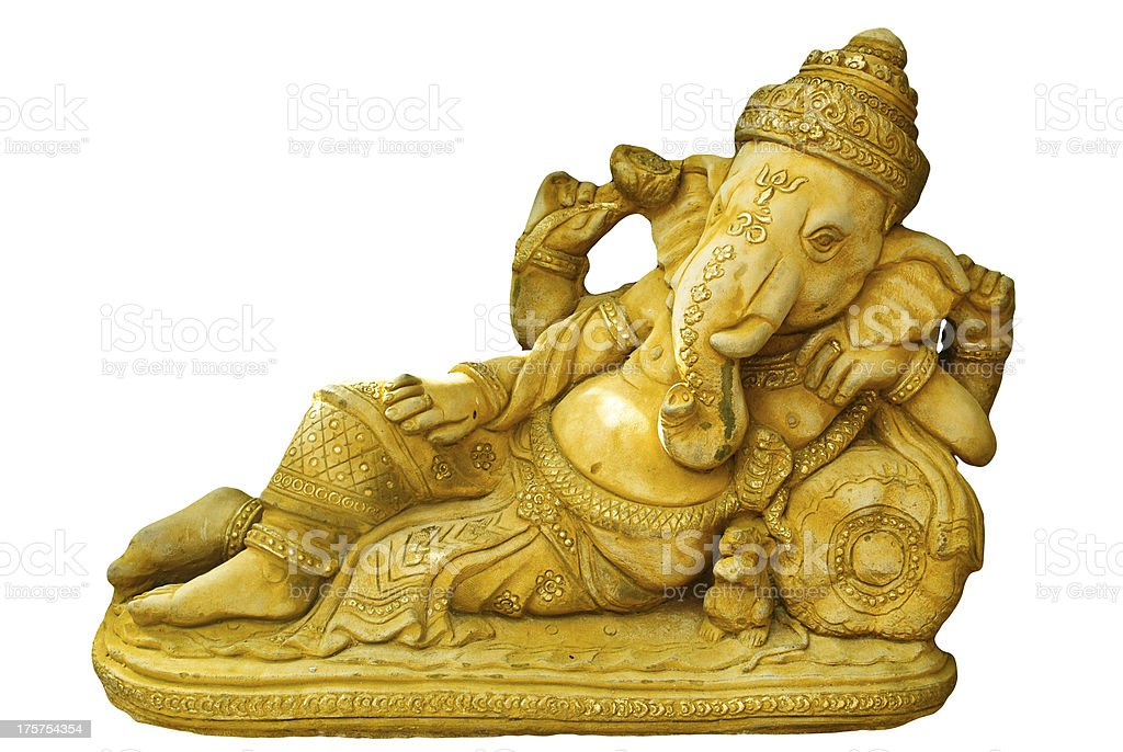 Ganesh statue with clipping path royalty-free stock photo