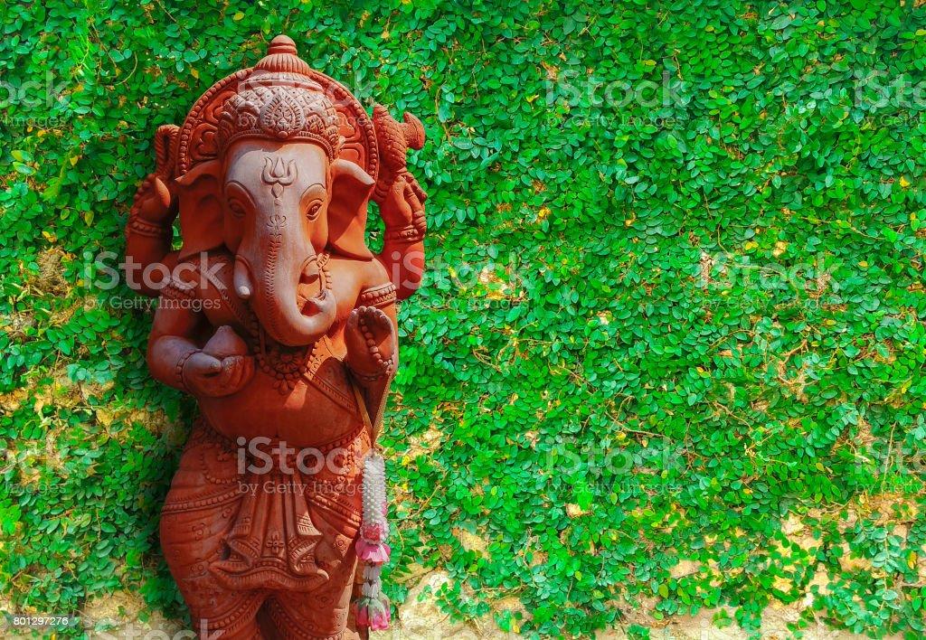 Ganesha elephant god stock photo