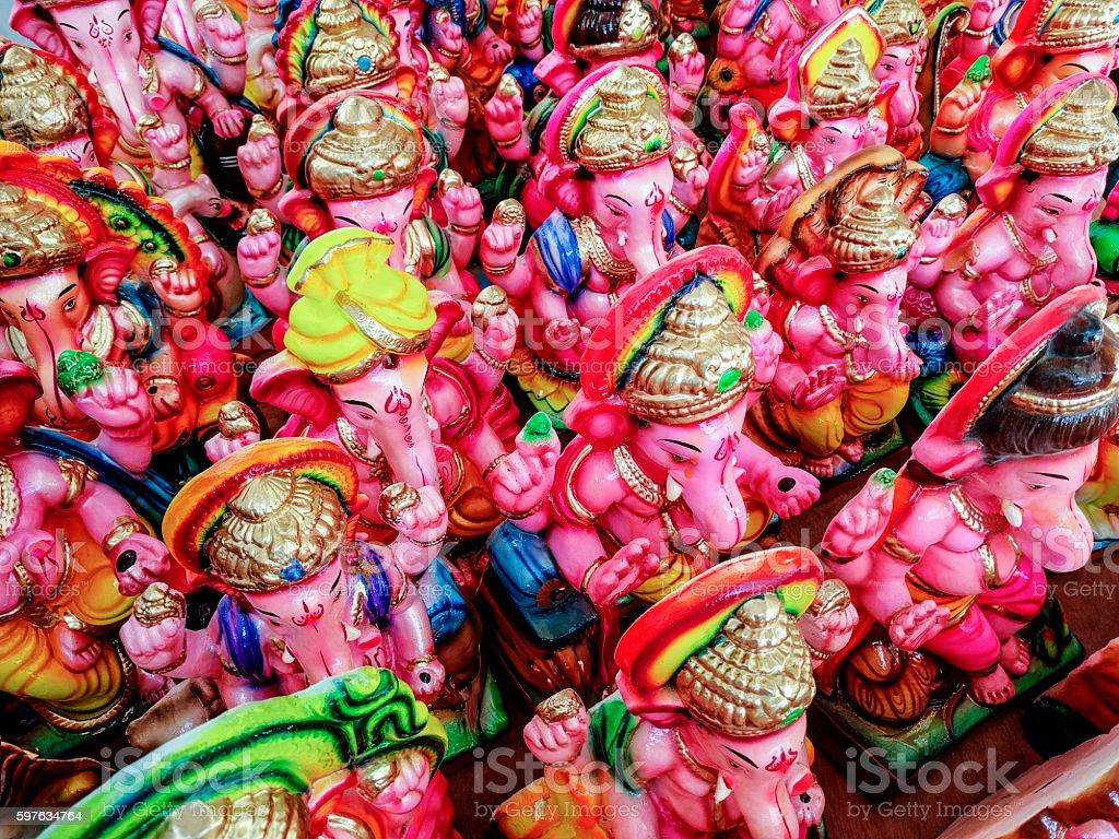 Ganesha idols stock photo