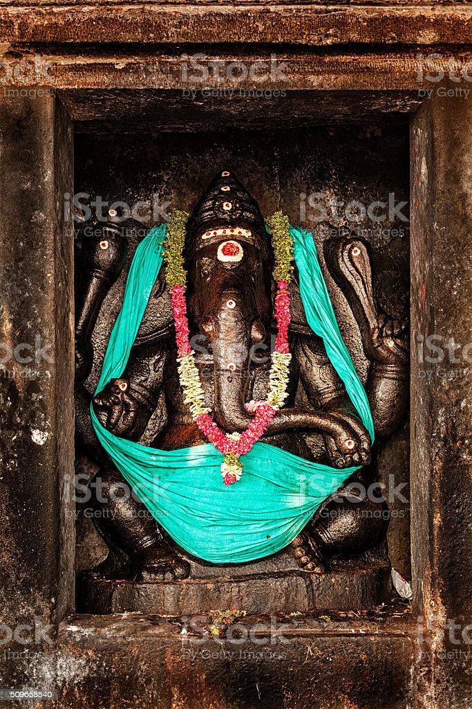 Ganesha image. Brihadishwara Temple, Tanjore stock photo